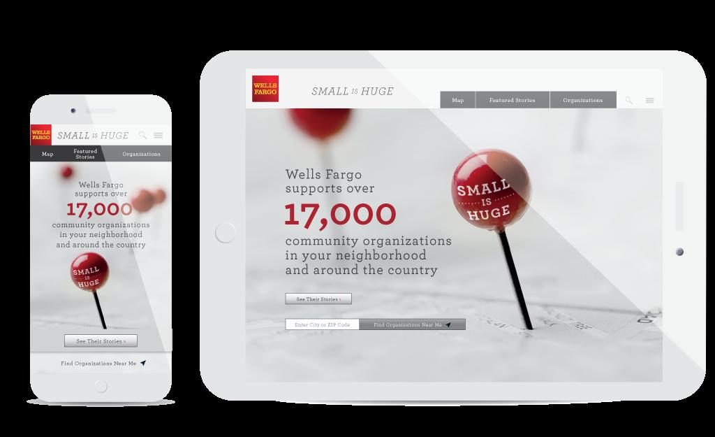Wells Fargo Small is Huge — Website