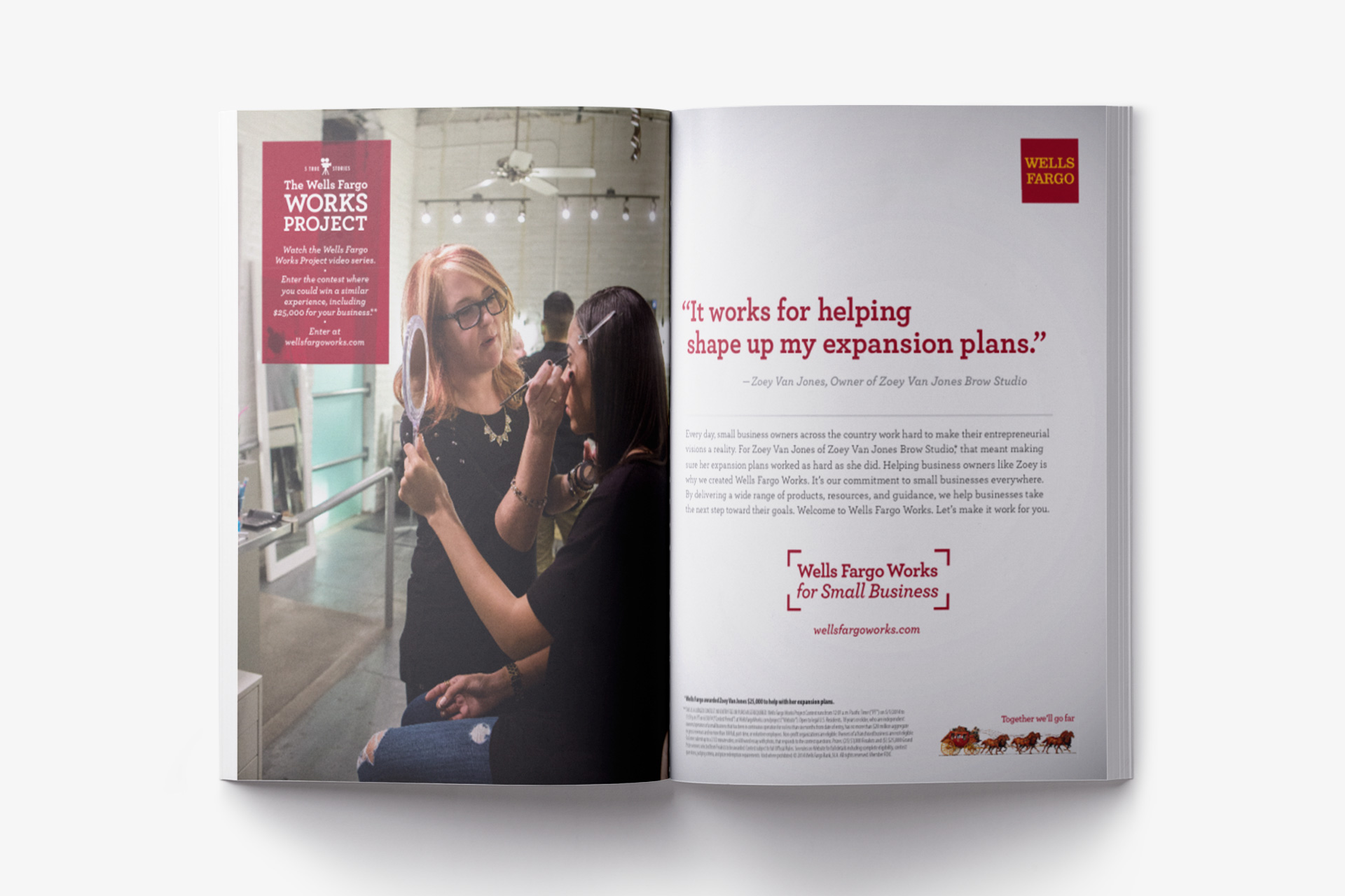 Wells Fargo Works for Small Business Print Ad